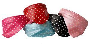 Hundehalsband Hunde Halsband mit Tuch Welpen Hundehalstuch Pünktchen Sale Preise