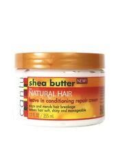 Cantu beurre Karité pour cheveux naturels sans rinçage après-shampooing
