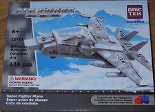 Super Fighter Plane Air Force BricTek Construction Brick Building Block Toy
