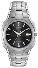 Citizen Eco-Drive Men's Titanium Black Dial Calendar 38mm Watch BM6560-54H