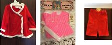 Lot of 3 - Red & White Doll Dress, Pink Dress,Corduroy Baby/Doll Pants