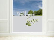 Sichtschutzfolie Badezimmer Wellness Oase Fensterfolie 57cm hoch Dusche Glastür