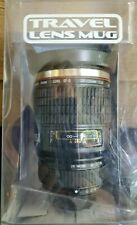 Camera Lens Travel Coffee Mug Stainless Steel Thermos Cup Photographer NIB
