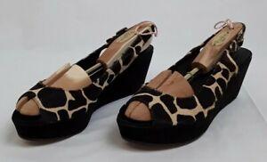 Women's Michael Kors wedge heels leather animal print shoes, UK 8, US 10, EUR 41