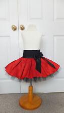 NEW HANDMADE GIRLS RED BLACK TUTU MINI SKIRT IRISH DANCE SCHOOL 3 - 5 YRS