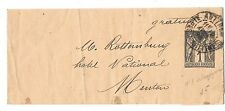 France 1898 Postal Stationery Newspaper Wrapper 1c Bande Antibes to Menton