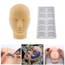 Make-up Mannequin Trainingskopf für Wimpernverlängerung Praxis mit 10 Paa Sale