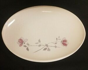 "FRANCISCAN DUET 15"" LARGE ""ROSE"" OVAL SERVING PLATTER GLADDING MCBEAN California"