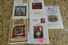 5 NEW Needlepunch Embroidery patterns Pine Mountain Mile High Charlotte Dudney +
