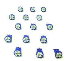15 BRIGHT Blue 194 Instrument Panel Cluster Dashboard LEDs Lights Bulbs Mopar