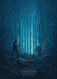 STAR WARS THE FORCE AWAKENS AMC Exclusive Poster (4 of 4) Kylo Ren and Finn