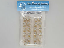 Lot of 12 Stainless Steel Earrings for Women. Wholesale price. - 19DOZ