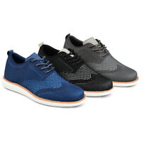 Daxx Mens Lightweight Lace up Comfort sole Knit Wingtip Dress Shoes New