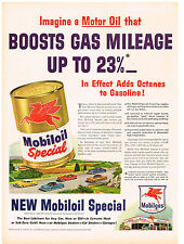 Vintage 1940 Magazine Ad Mobiloil Special Boosts Gas Mileage / U.S. Beer Brewers