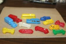 Thirteen Nice Vintage 1940'S or 50'S Assorted Small Plastic Cars and Trucks