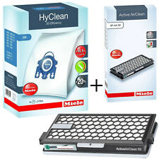 MIELE GN HyClean Vacuum Bags + SF-AA50 Active Air Filter Kit S8390 S8530 S8590