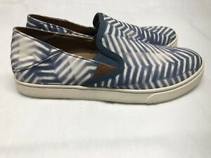 Olukai Pehuea Pa'i Women's Slip On Casual Shoes Sneakers Blue/White Size 9