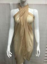 Summer Beach Dress Bikini Swimwear Cover Up Sarong Wrap Pareo Scarf Plain Gold