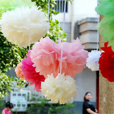 20pcs Tissue Paper Pom Poms Flower Ball for Wedding Party's Home Outdoor Decor L