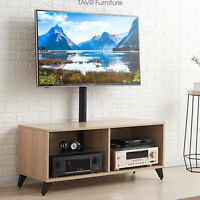 Wood TV Stand Console with Swivel Mount for 32-65 inch TVs