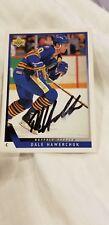 1993/94 DALE HAWERCHUK UPPER DECK SABRES Signed card