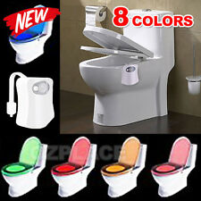 8 Colors LED Toilet Bathroom Night Light Motion Activated Seat Body Sensor Lamp