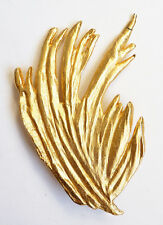 Broche en métal doré et émail signé Valérie VILOIN LABBÉ Paris