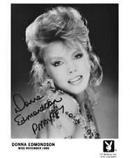 DONNA EDMONDSON 1987 PLAYBOY PLAYMATE OF THE YEAR SEXY SIGNED PROMO PHOTO  (IN1)