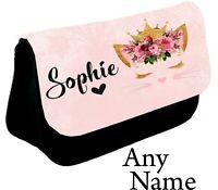 Personalised Cat kitten Pencil Case make up bag school xmas Birthday name girl