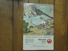 RUGER Single Six large vintage tin sign Man Cave gun shop gunsmith Advertising