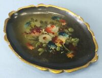 Antique Vintage Hand Painted Wooden Toleware Pin Vanity Tray B. Altman & Co.