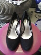 1cb6f55d1ba FOOTGLOVE LADIES BLACK SUEDE WEDGE SHOES SIZE 6