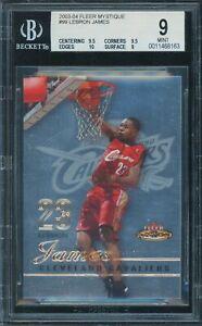 2003-04 LeBron James Fleer Mystique Rookie RC (914/999) BGS 9.0 *MINT*