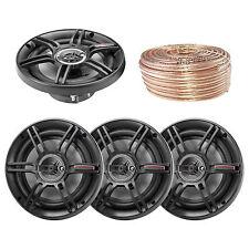 "CS653 6.5"" 3-Way Full Range 300W Car Speakers, Enrock 18 Gauge 50FT Speaker Wire"