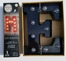 "NEW VINTAGE LIGHTING LED Black ""E"" Letter Light Up Letters Marquee Sign Metal"