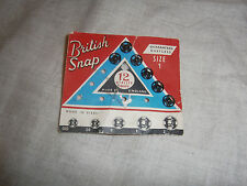 VINTAGE SEWING ACCESSORIES-BRITISH SNAP CARD WITH 6 BLACK SNAPS- MADE IN ENGLAND