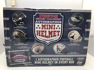 NEW TRISTAR HIDDEN TREASURES AUTOGRAPHED MINI HELMET FOOTBALL NFL STAR Sealed