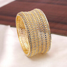 Trendy Indian Gold Plated Bangle Fashion AD Kada Bracelet Wedding Bangle Jewelry