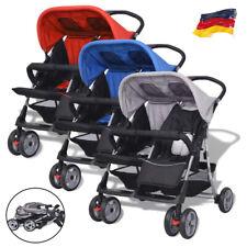 Zwillingswagen Kinderwagen Babywagen Baby Buggy Klappbar Geschwisterwagen Oxford
