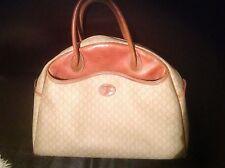 Vintage, RARE grand sac à main  porté -  LONGCHAMP en cuir et toile.