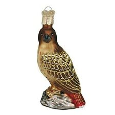 Old World Christmas 16064 Glass Blown Red-Tailed Hawk Ornament