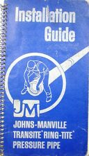 Johns-Manville Transite Pipe Guide Manual ASBESTOS Cement 1969