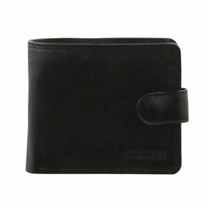 Milleni Mens Leather Tab Wallet  Bi-Fold Card Holder RFID  Blocking
