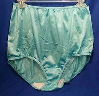Vtg WARNER'S Aqua Briefs Granny Panties 9189 Shiny Silky Semi Sheer Nylon 9 NWT