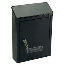 Cassetta Postale in Alluminio Porta Lettere Chiave Portanome Nero 30x21cm idea