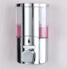 Soap Shampoo Bathroom Shower Chrome Dispenser Pump Push Action Wall Mounted