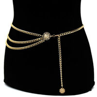 Gold Waist Chain Waistband Belts Body Chain Women Lady Statement Fashion Jewelry