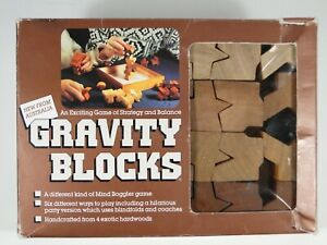 Vintage GRAVITY BLOCKS Australian Strategy and Balance Game (1987)