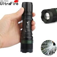 Ultrafire 50000LM Zoomable LED T6 Flashlight Torch +Bike Holder Tactical Torch