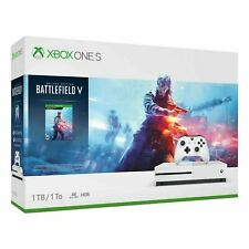 Microsoft Xbox One S 1TB White Console (NTSC) Battlefield V with HD Blu-ray Bundle